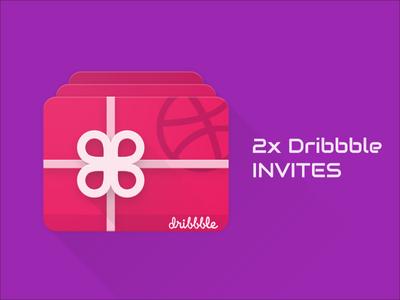 Material Design Dribbble Invites Cards - Grab Your Invite!