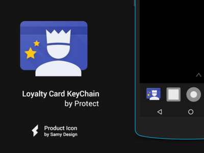 Loyalty Card Keychain - Material Design Icon