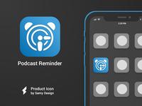 Podcast Reminder - iOS Icon Design