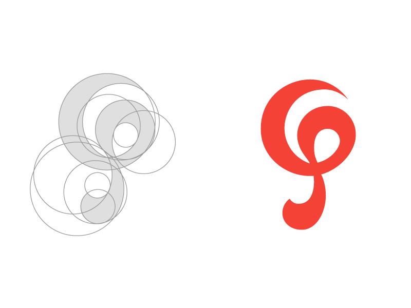 Music Note | Logo concept for Rhythm Software icon android logo logoconcept monogram logo music logodesign branding and identity branding red rhythm