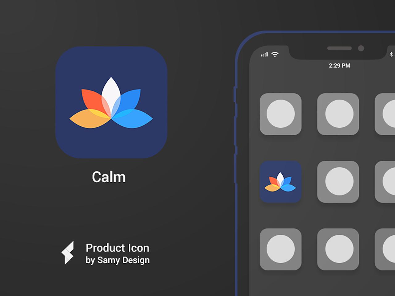Calm Mediation  - iOS Icon Design mediation calm ios iosicon icon icon artwork iosapp iphone logo illustrator typography gradient color gradient design gradient icon