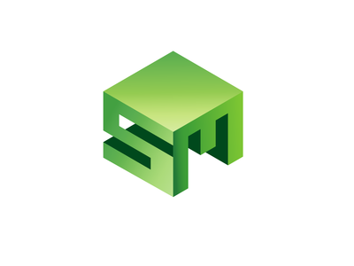 SM Isometric Type - Logo Design