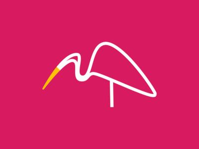 Heron  - Logo Design logo 30dayschallenge typography monogram icon logodesign design graphic designer samy graphicdesigner graphicdeginlife illustartor branding trending letter letters challenge alphabets arrow