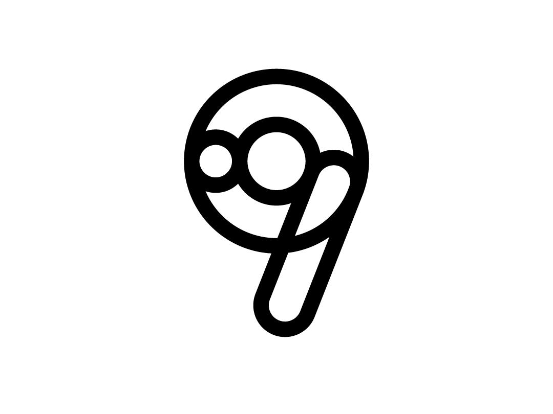 Number 9 - Logo Design by Samy on Dribbble