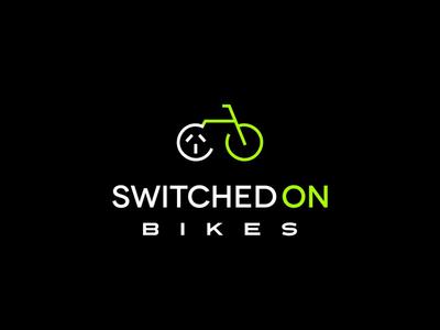 Switched on Bikes - Logo Design green bikes logos logotype graphic logodesign typography branding design logo