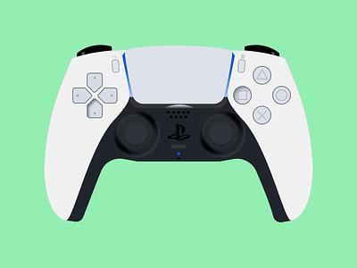 Sony PS5 controller art controller ps5 playstation sony illustration vector design dailyuichallenge dailydesignchallenge