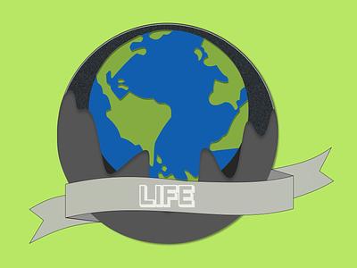 Coin #14: Life - (Earth) dailydesign planet life earth series coin concept illustration vector design dailyuichallenge