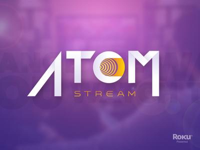 ATOM Stream branding smart tv roku tv app