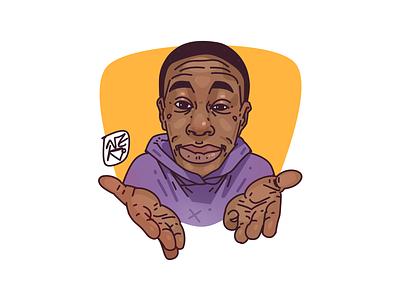 meme dude \ sticker meme sketch stickers sticker logo portrait illustration portrait illustration digital art character design character creation character