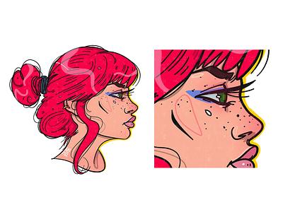 ginger sketch portrait illustration portrait illustration digital art character design character creation character