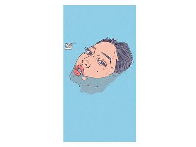 breath girl korean asian design portrait illustration portrait illustration digital art character design character creation character