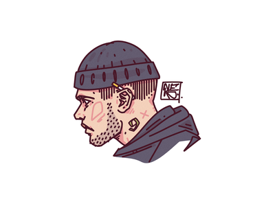 profile photo \ dude logo streetwear streat boy design portrait illustration portrait illustration digital art character design character creation character