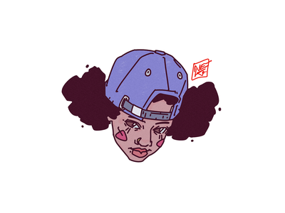 HIPHOPBABYGIRL sticker streetstyle hiphop draw drawing girl sketch design portrait illustration portrait illustration digital art character design character creation character