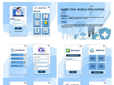 Health Click App Design design web ui