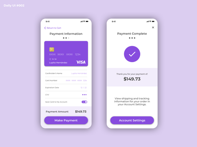 Daily UI #002 - Credit Card Checkout checkout design mobile ordering payment dailyuichallenge dailyui 002 dailyui