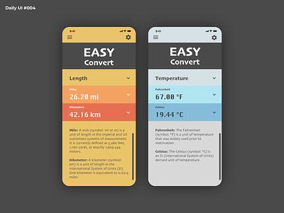 Daily UI #004 - Calculator ui convert converter calculator design mobile dailyui 004 dailyuichallenge dailyui