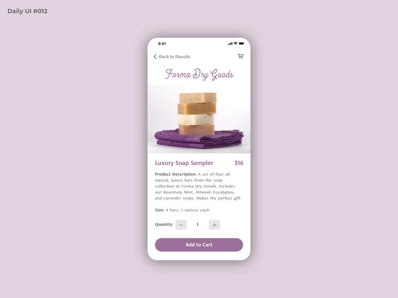 Daily UI #012 - Ecommerce Shop design ecommerce app ecommerce shopping app shopping shop bath soap dailyui 012 mobile dailyuichallenge dailyui