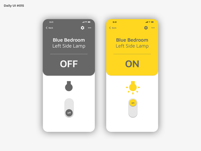 Daily UI #015 - On Off Switch mobile home toggle switch on off switch on off dailyui 015 dailyuichallenge dailyui