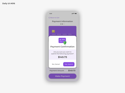 Daily UI #016 - Popup Overlay confirm confirmation payment overlay popup mobile dailyui 016 dailyuichallenge dailyui