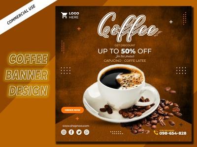 Creative Social media post design for coffee shop coffe banner coffeeshop coffee set banners banner delicious food post tasty free resource free download illustration elegant template instagram pos food restaurant discount sale modern delicious