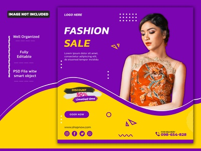 Sale Social Media Post Or Banner Template instagram template web banner facebook post design social media design ad design ads instagram banner instagram post instagram stories instagram facebook post ads design socialmediatemplate