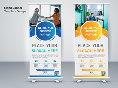 Roll-up Banners photoshop multipurpose modern marketing indesign illustrator global display design creative corporate company clean business bundle blue banners advertisement advert ad