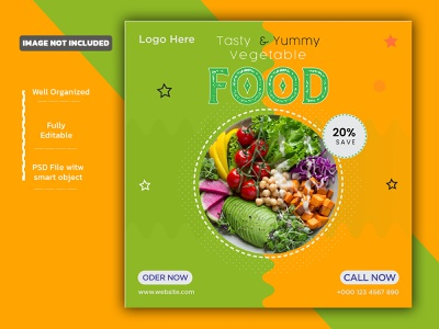 Vegetable food promotion social media instagram post banner temp restaurant menu restaurant banner restaurant brochure restaurant social media flyer promotion poster socialmedia facebook ad facebook post social media design banner instagram banner instagram post