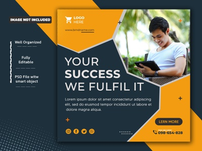 Business Corporate Social Media Post Design Template web banner marketing agency corporate ads banner business post square banner modern post design socialmedia branding creative facebook ad facebook post banner social media design instagram post corporate flyer design advertisement ads abstract corporate flyer