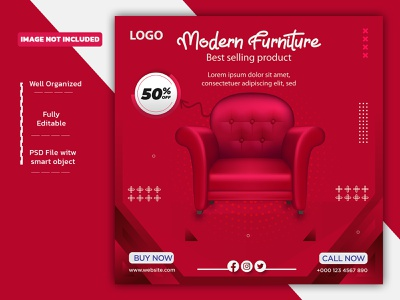 Social Media Post Design sofa instagram template instagram stories template template socialmedia social media banner instagram post facebook post design furniture banner facebook post