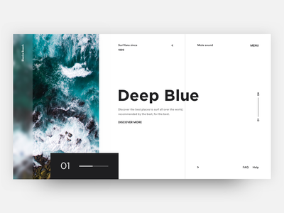 Wave travel places wave gallery minimal clean flat design surf beach sea sport ocean design ui ux grid white blank theme web landing product page