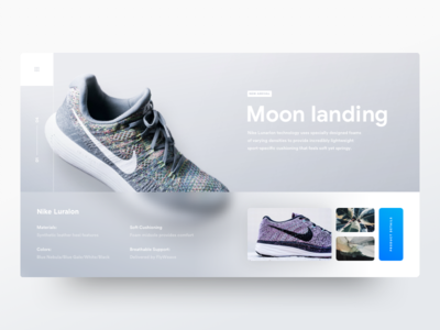 Moon web landing page white clean minimal theme blur industrial store shop ecommerce grid blank design ui ux minimal clean flat product design