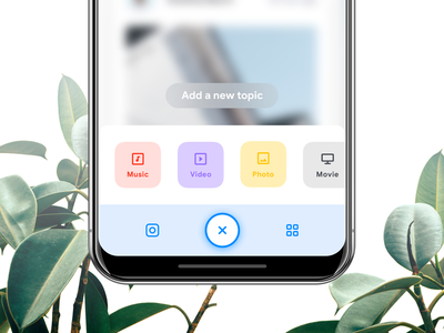 Add content [Reboot Series] community entertainment social flat pastel color funny social instagram trend white clean light grid typography minimal product design design ui ux