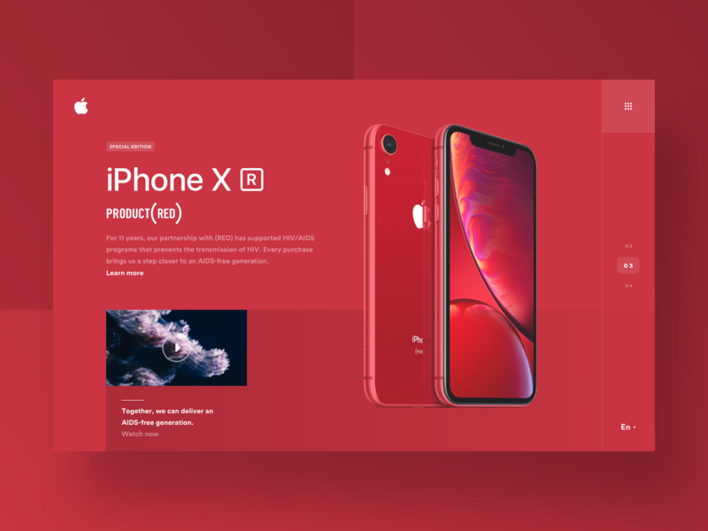 🔴 (Red) web landing page red clean minimal theme industrial store ecommerce shop ecommerce e-commerce grid design ui ux flat branding product iphone charity video player apple phone