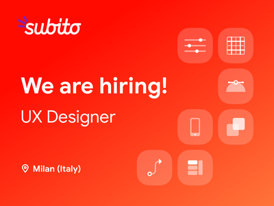 Join Subito - Design Team italy job opening join us tech schibsted marketplace product designer ui ux team design hiring job hr