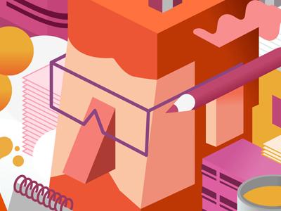 TLV Illustration Week 2015 tel aviv glasses hipster branding festival illustration fun isometric