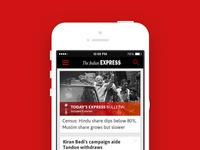 Indian Express - iPhone UX + UI