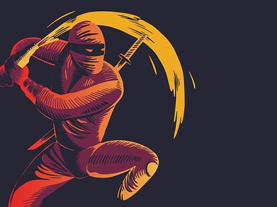 The Thirsty Ninja thirsty brewery beer studio design mumbai illustration packaging warrior ninja