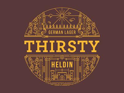 Heldin - Label Design illustration packaging design beer brewery heldin vector label design