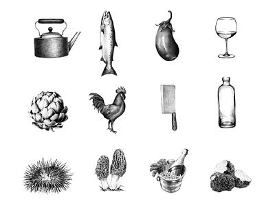 Culinary Illustrations design studio mumbai culinary india raw illustrations pencil food yummy food illustrations