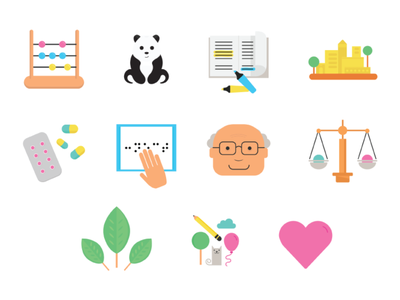 Causes for Connect For causes ngo vector graphics design mumbai illustration flavour icons icons