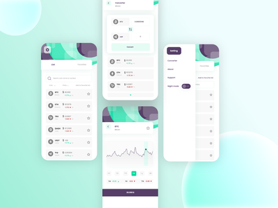Crypto currency uiux design app wallet app ux cryptocurrency crypto wallet wallet ui wallet uiux uidesign ui