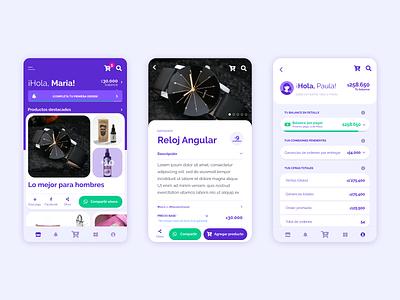 Elenas Seller App v2.0 shopping design system ecommerce app adobe xd ui ux react native mobile app product design
