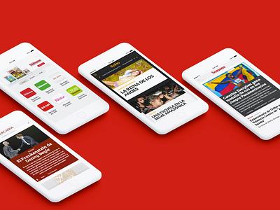 Publicaciones Semana mobile responsive ux ui editorial