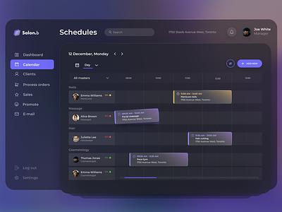 Dashboard for appointment management trendy dark dark theme dark mode admin dashboard admin admin panel dashboard minimal web ux ui design