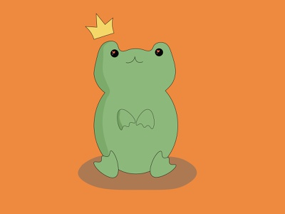 The queen frog bookshop characterdesign characters simple illustration child cartoon animation