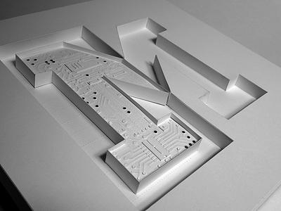 Paper Sculpture typography cut paper paper sculpture