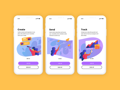 Email App Onboarding data viz illustration mobile app design email design uiuxdesign uiux mobile ui mobile email app email