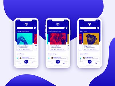 Raccoon - Scavenger Hunt App ui design ux design mobile app experience mobile app design adobe xd uiux ux ui app mobile