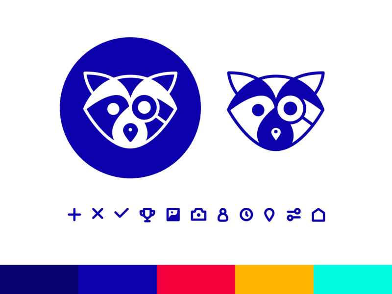 Raccoon Logo iconography logo design illustration icon design