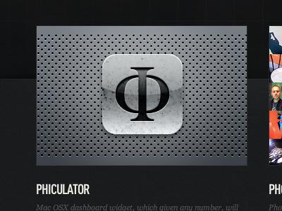 Phiculator icon phiculator phi calculator icon mathematic design beauty golden ratio divine proportions apple mac osx dashboard Φ fibonacci